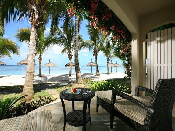 Sugar Beach Resort - private deck